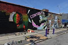 Artist At Work (Eddie C3) Tags: newyorkcity streetart art graffiti graffitiartist astoriaqueens wellingcourt wellingcourtmuralproject 6thannualwellingcourtmuralproject