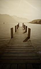 L'infinito....... (milo21290) Tags: old annecy lago nikon infinity 5100 francia pontile 18105 seppia 2015