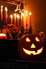 jack-o-lantern_2014_Halloween_big_seance (BigSance) Tags: decorations orange halloween dark pumpkin skeleton skull mirror candles glow jackolantern altar decorating candelabra halloweendecorations halloweendecorating halloweenaltar