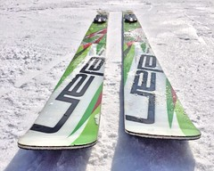 Tips ([][][]just_life[][][]) Tags: winter snow ski sport jumping skiing board gear skis boarding
