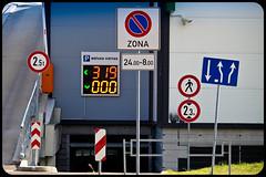Signs (Vitaly Goreglad) Tags: road street sign town parking latvia arrows riga lettland latvija      canon700d vitalygoreglad