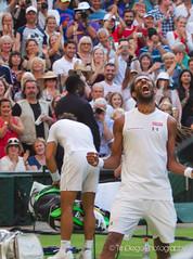 Dustin Brown defeats Rafa Nadal | TrinDiego (TrinDiego) Tags: england brown green grass dreadlocks germany lawn tennis german jamaica dustin wimbledon rasta sw19 rastafarian centrecourt dustinbrown trindiego