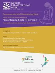 World Breastfeeding Week 1-7 August 2015 (Sir H. N. Reliance Foundation Hospital) Tags: breastfeeding lactation breastmilk wbw worldbreastfeedingweek infantfeeding worldbreastfeedingweek1to7august2015