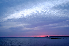 Abendglühen (Manuel Eumann) Tags: ocean sky nature clouds landscape evening abend meer fuji natur himmel wolken august landschaft ostsee schleswigholstein langzeitbelichtung abendstimmung 2015 holnis manueleumann fujixt1