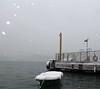 Waiting (hacky_Am) Tags: winter snow boat seaside steg boot tekne bosphorus bogaz schnee wasser water deniz istanbul ortaköy