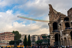 il Colosseo (romamar76) Tags: rome italy italian airforce jets flyby smoke freccetricoloris colosseum