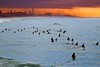 Waiting for the waves at sunset - Tel-Aviv beach (Lior. L) Tags: waitingforthewavesatsunsettelavivbeach waitingforthewaves sunset telaviv beach surfing surf surfers sea seascapes silhouettes sky skyline telavivbeach israel travel travelinisrael