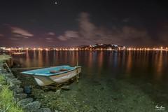 Nightscape | Ganzirri's lake - Sicily (fabioscrima) Tags: lake water blue night nightscape longexposure reflection boat landscape nature beautiful background sea amazing view adventure sky clouds skyline