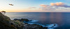 Sun setting into a new horizon (Fluid Light Images) Tags: yakushima japan sonyalpha sony playmemories smoothreflectionapp fe28mm panoramic panorama longexposure sunset landscape seascape ocean beach clouds sky sea