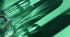 Light castles (mi ne volimo šalu) Tags: abstract asymmetry artistic absence artificialstilllife colour castle diagonal distortion empty green geometry glass ghost illumination light lines minimalism monochrome negativespace ornament pattern stillife shadow silver texture transparency translucence view sunlight