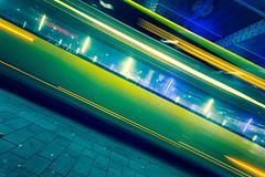 green scream (Blende57) Tags: bus underpass city urban transportation longexposure wideangle motion blur blurred motionblur speed lighttrails
