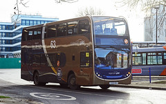 VX09 NBO. (curly42) Tags: vx09nbo stagecoach15530 bus transport scanian230ud enviro400 stagecoachgold63 publictransport roadtransport gloucesterbusstation rebrandedbus stagecoach