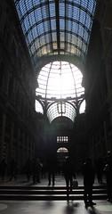 Napoli inside (stefanoguarino & shadows move) Tags: napoli galleriaumberto personechecorrono