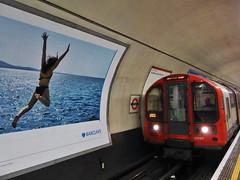 Don't Jump (Douguerreotype) Tags: london metro uk underground urban british train city tunnel poster subway britain tube gb england