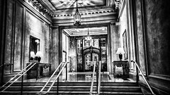 Palace Hotel, San Francisco (Paddy O) Tags: sanfrancisco painting blackwhite explore palacehotel bnw baytobreakers maxfieldparrish 2015 explored piedpiperbargrill piedpiperpainting