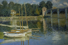 Pont d'Argenteuil (The Bridge at Argenteuil, 1874) (Greatest Paka Photography) Tags: france art museum painting countryside artist monet argenteuil seineriver dorsaymuseum frenchimpressionism oscarclaudemonet pontdargenteuil