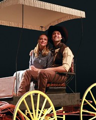 """Brandi Burkhardt as Laurey and Jeremiah James as Curly in the 2010 Music Circus production of """"Oklahoma!"""" at the Wells Fargo Pavilion July 27-August 1.  Phot by Charr Crail."""