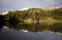 Shadow Lake (gwendolyn.allsop) Tags: morning usa lake reflection mirror washington hike alpine rainier mtrainiernationalpark d5200