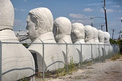 Presidential Heads (Iggy & StarCat) Tags: white giant texas outdoor houston heads presidents adickes