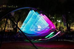 Vivid - Light swing (Dan's Daily Photo) Tags: longexposure pink blue green festival night outdoor sydney vivid circularquay swing cbd dansdailyphoto
