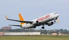 Pegasus Airlines Boeing 737-800 (AMSfreak17) Tags: amsterdam airport pegasus off take boeing airlines schiphol runway ams eham 737800 18l aalsmeerbaan amsfreak17 tccpl
