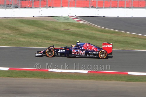 Carlos Sainz Jr in Free Practice 1 at the 2015 British Grand Prix