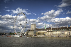 London Eye and County Hall2-2 (FitzinCC) Tags: londonhdr