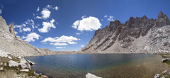 Primrose Lake (Melissa Emmons Photography) Tags: panorama lake mountains nature water clouds forest canon landscape rocks national backpacking 5d sequoia sequoianationalforest primroselake neverstopexploring miterbasin