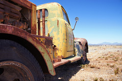 """""""there ain't no cure for the summertime blues..."""" (nedlugr) Tags: california ca sky rural truck rust shadows ruraldecay jolon ruralwest omot"""