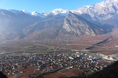 Riddes (bulbocode909) Tags: valais suisse riddes plainedurhône montagnes nature automne paysages vignes villages maisons neige brume bleu