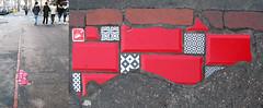 Street installation by Ememem [Lyon, France] (biphop) Tags: europe france lyon croixrousse streetart pavement trottoir ememem carrelage rebouchetrous mosaic mosaique