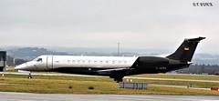 D-AERO EMB LEGACY 600 (douglasbuick) Tags: aircraft emb legacy 600 daero private executive jet plane egpf glasgow airport aviation flickr scotland nikon d3300