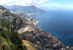 the Amalfi Coast,  Altitude 630 m./ 2067ft. (jjamv) Tags: jjamv julesvtravel amalfi agerola maiori minori ravello lgv10 2017 amalficoast positano sea mountains clouds landscape sorrento italy italia campania coastline hiking trekking unesco outdoor cliff mountain mountainside crag bluff ridge hill rock sanlazzaro castellolauritano costieraamalfitana wow