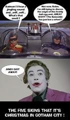 BATMAN 1966 : THE FIVE SIGNS THAT IT'S CHRISTMAS IN GOTHAM CITY ! (DarkJediKnight) Tags: batman 1966 robin joker adamwest burtward cesarromero batmobile humor parody spoof fake christmas 2016