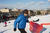Sled (dtanist) Tags: nyc newyork newyorkcity new york city sony a7 konica hexanon ar 40mm brooklyn sunset park snow sled sledding skyline 1wtc
