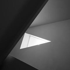 Aranguren & Gallegos. ABC Museum #21 (Ximo Michavila) Tags: arangurengallegos abc museum ximomichavila madrid spain triangle abstract architecture geometric archidose archdaily archiref building minimal light shadow bw blackwhite grey 11 square monochromatic