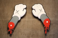 A hands-off approach (dangr.dave) Tags: fortworth tx texas cowtown tarrantcounty panthercity downtown historic architecture kaws modernartmuseum museumofmodernart severedarm blood amputation