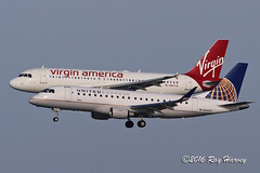 Parallel arrivals runways 28L/R at SFO (320-ROC) Tags: skywest unitedexpress virginamerica n160sy n847va scarlettoair embraer embraer170 embraererj170200lr erj170200lr erj170 e75l a320 a320200 a320214 airbus airbusa320 airbusa320200 airbusa320214 ksfo sfo sanfranciscointernationalairport sanfranciscoairport sanfrancisco
