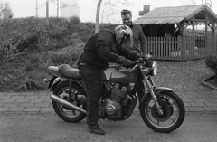 Check (Arne Kuilman) Tags: kerst 2016 nederland netherlands trix iso400 f100 nikon 50mm 50mmf14 film scan kodak d76 homedeveloped v600 limburg blackandwhite laverda laverda1000 driving rijden motorcycle motorbike motorfiets motor italian nakedbike
