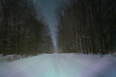 Rural winter cruizin! (cheliman) Tags: backroads pa winter snow highspeed 2017 stars night headlights rural country woods hill nwpa outdoors