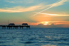 Sunset at Pier 60 (Joanna Kurowski Photography) Tags: sunset florida clearwater clearwaterbeach beach water sky clouds endoftheday magnificent world pier60 cloudporn canon joannakphotos joannakurowskicom vacations holidays relax blue yellow waves landscape iloveflorida travelphotography