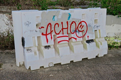 Achoo, New Orleans, LA (Robby Virus) Tags: neworleans louisiana la nola bigeasy achoo graffiti tag tagger wall barrier