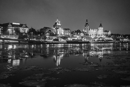 Stettin-Szczecin, 2017 January evening.