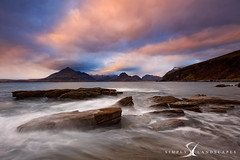 Elgol sunset- Isle of Skye- (simply-landscapes.co.uk) Tags: isleofskye scotland skye elgol mountains sea seascape seascapes clouds outdoors sky sunset rocks waves cullins cullin canon6d leefilters visitscotland cloudporn mountain fishing le longexposure outdoor water shore shoreline