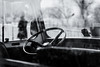 Cold days expected Mrs Van (hector_cbs) Tags: van cold winter woman monochrome blackandwhite motor car window through bokeh layers vehicle white black bw