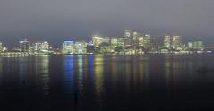 Boston skyline and Inner Harbor (nightsky2007) Tags: boston inner harbor massachusetts fog