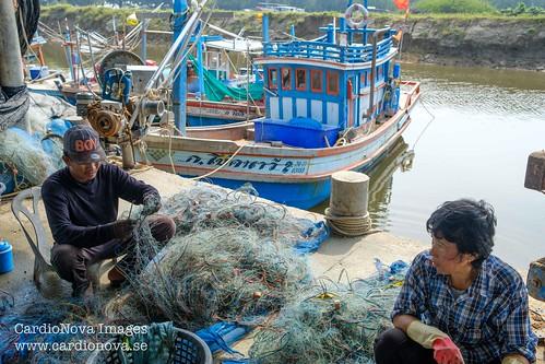 Khao Takiab fishing harbor, Thailand