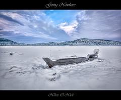 Going Nowhere (Nikos O'Nick) Tags: nikos kotanidis nick onick nikon d810 nikkor 1424mm manfrotto 055xprob ballhead 498rc2 hdr photomatix κοτανίδησ νίκοσ νικόλαοσ kastoria greece hellas western macedonia lake boat frozen snow clouds καστοριά ελλάδα δυτική μακεδονιά λίμνη πάγοσ χιόνι σύννεφα ουρανόσ sky blue going nowhere ilobsterit wtbw nikond810 νίκοσκοτανίδησ manfrotto055xrpob