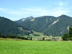 View from Romanshöhe at Unterammergau (Hannelore_B) Tags: unterammergau berge mountains ammertal ammertalvalley bayern bavaria deutschland germany landschaft landscape