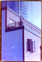 Seattle (R. Drozda) Tags: seattle washington pikeplacemarket mannequinwithguitar rooftop film expiredfilm 35mmfilm bluemoonphoto art annalisanotter drozda